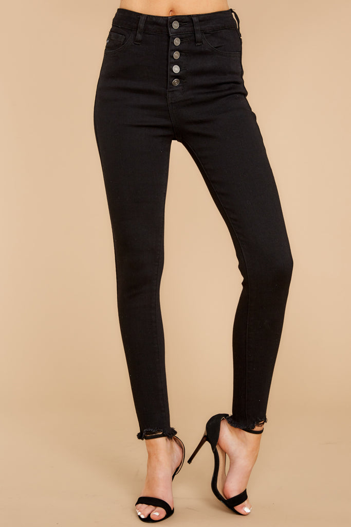 Confession Time Black Distressed Skinny Jeans