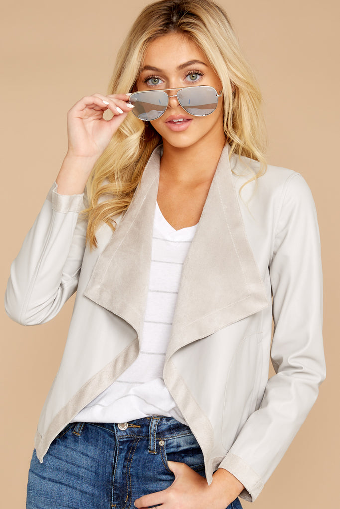 6 Lucid Dream Slate Green Jacket at reddressboutique.com