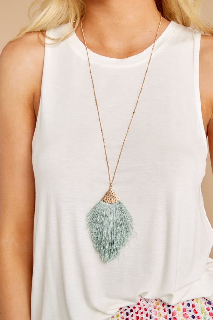 Gentle Breezes Gold Leaf Necklace
