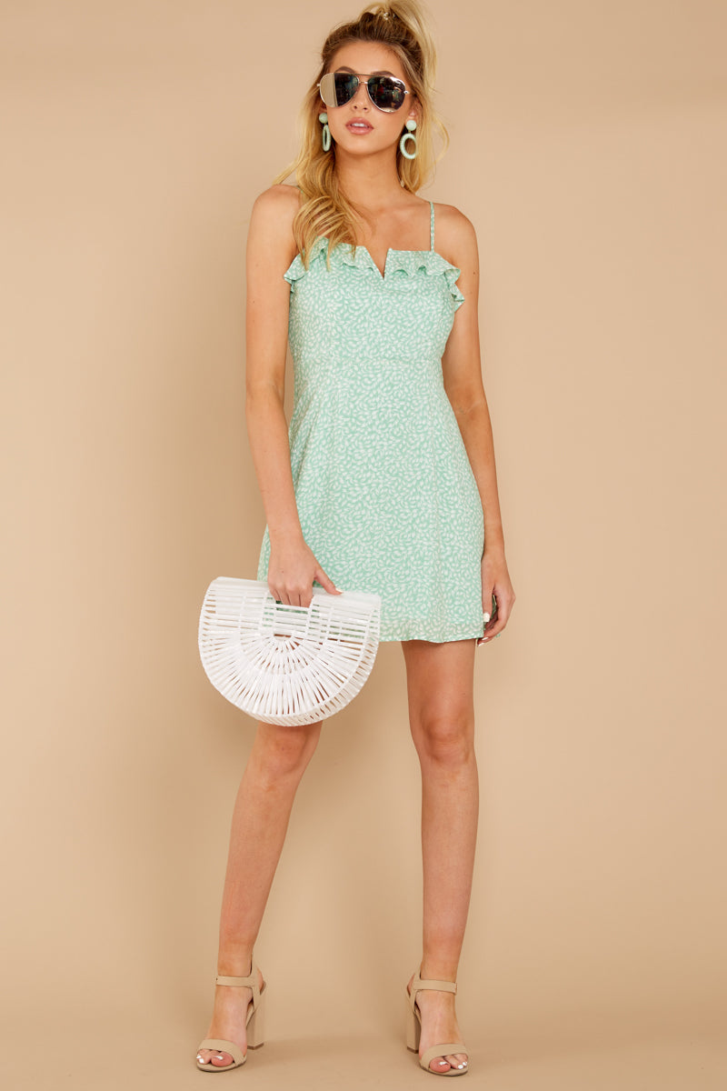 2 When She Smiles Mint Print Dress at reddressboutique.com