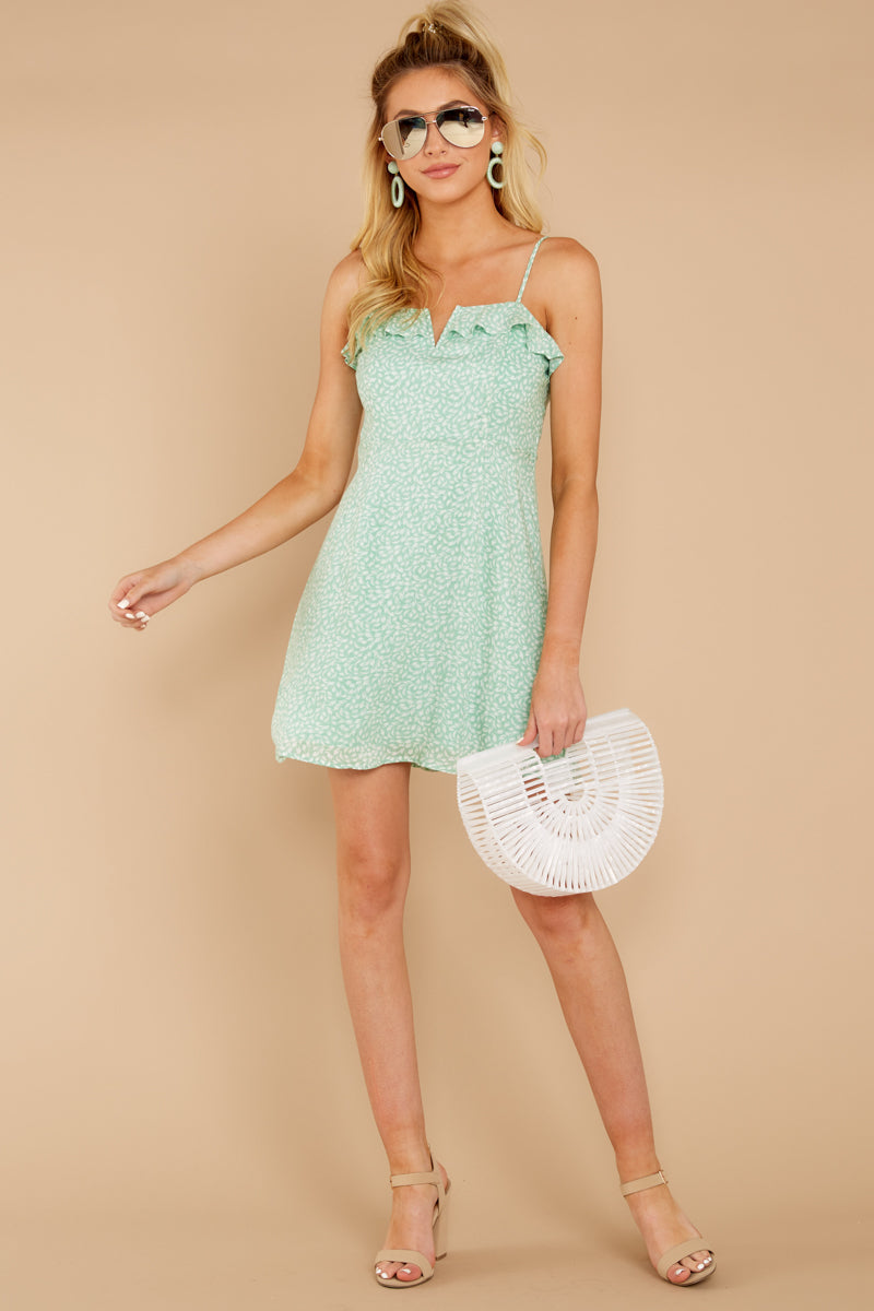 1 When She Smiles Mint Print Dress at reddressboutique.com