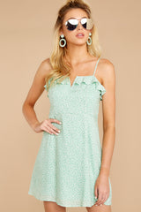 5 When She Smiles Mint Print Dress at reddressboutique.com