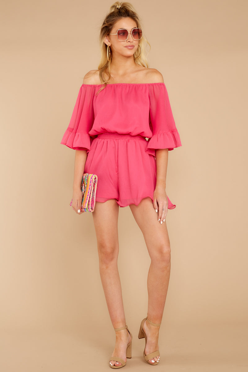 2 A Little Diddy Neon Pink Romper at reddress.com