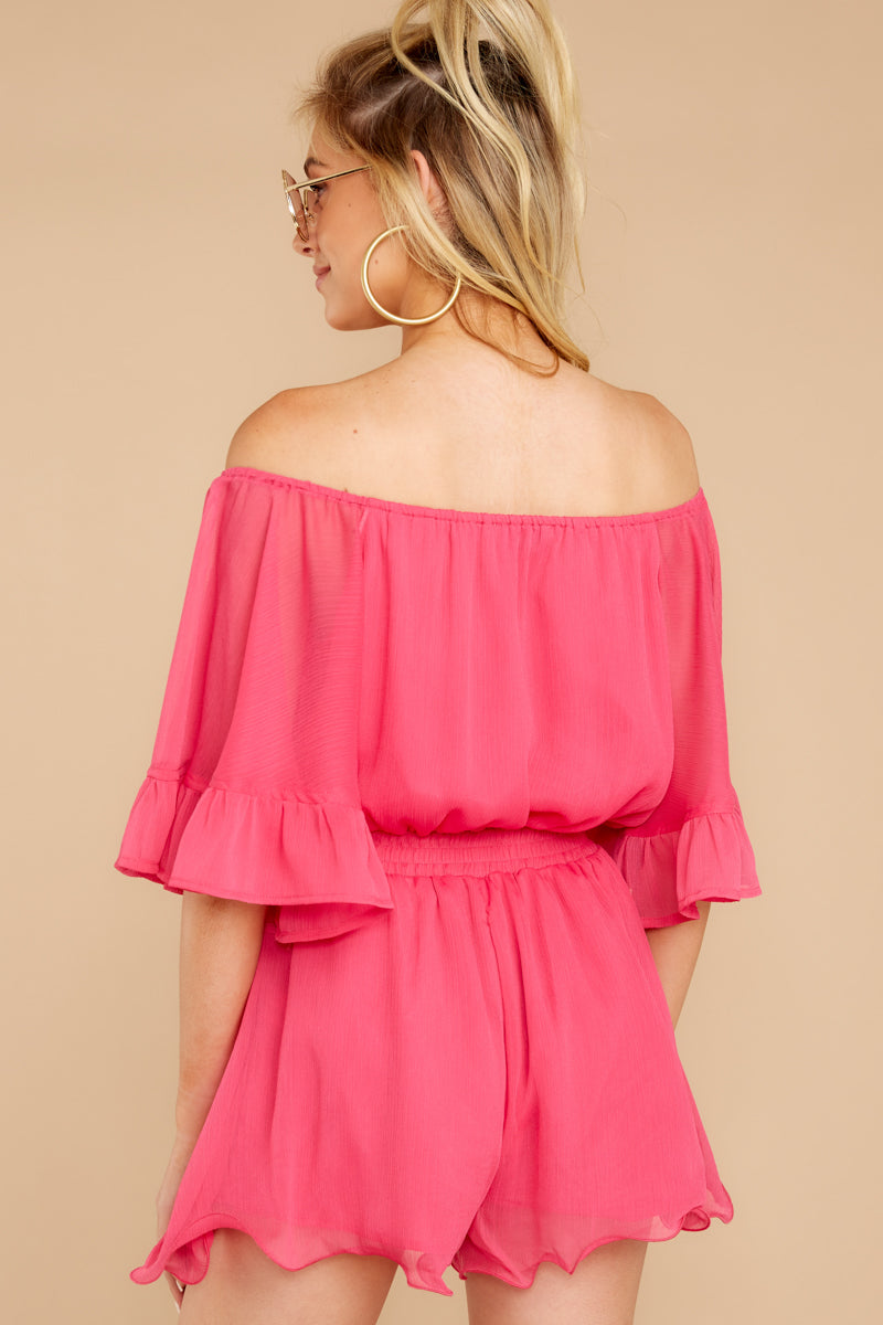 7 A Little Diddy Neon Pink Romper at reddressboutique.com