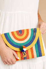 1 Still Feel It Rainbow Clutch at reddressboutique.com