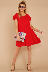 2 Shifting Plans Red Dress at reddressboutique.com