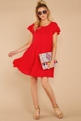 1 Shifting Plans Red Dress at reddressboutique.com