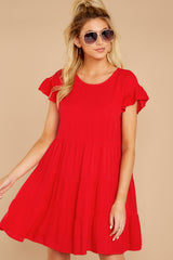 4 Shifting Plans Red Dress at reddressboutique.com