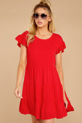 5 Shifting Plans Red Dress at reddressboutique.com