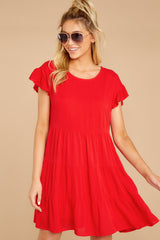 6 Shifting Plans Red Dress at reddressboutique.com