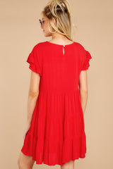 7 Shifting Plans Red Dress at reddressboutique.com
