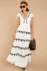 3 Happy To Be Here White Maxi Dress at reddressboutique.com