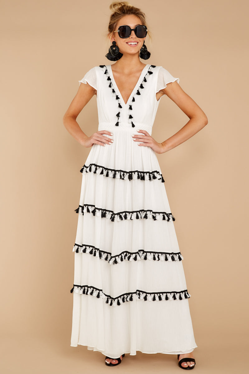 4 Happy To Be Here White Maxi Dress at reddressboutique.com