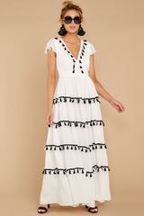 6 Happy To Be Here White Maxi Dress at reddressboutique.com