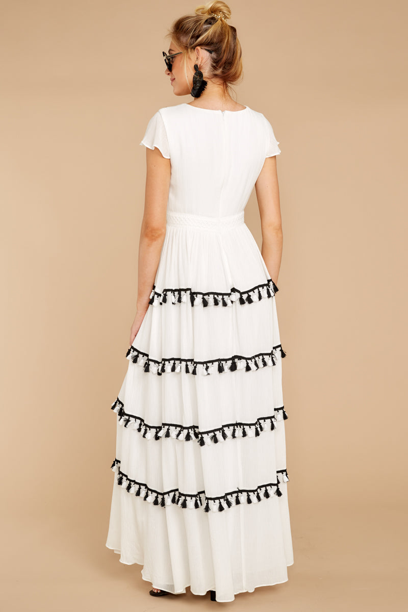 7 Happy To Be Here White Maxi Dress at reddressboutique.com