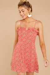 6 When She Smiles Coral Print Dress at reddressboutique.com