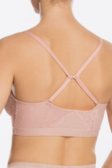 1 Spanx Spotlight On Lace Vintage Rose Pink Bralette at reddressboutique.com