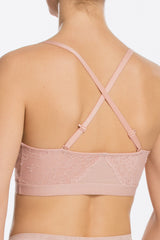 4 Spanx Spotlight On Lace Vintage Rose Pink Bralette at reddressboutique.com