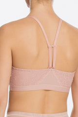 3 Spanx Spotlight On Lace Vintage Rose Pink Bralette at reddressboutique.com