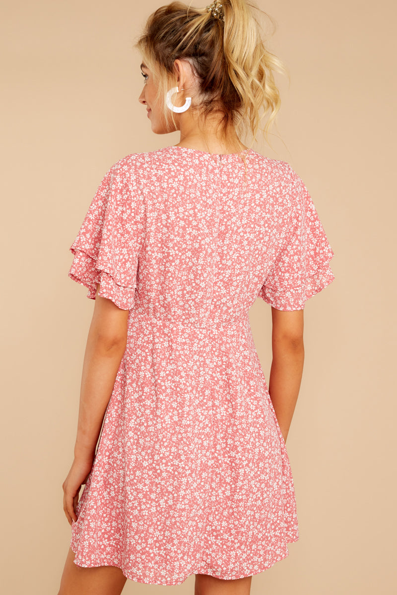 Time With You Pink Floral Print Dress
