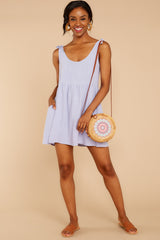 1 Castaway To Somewhere Pastel Purple Dress at reddressboutique.com