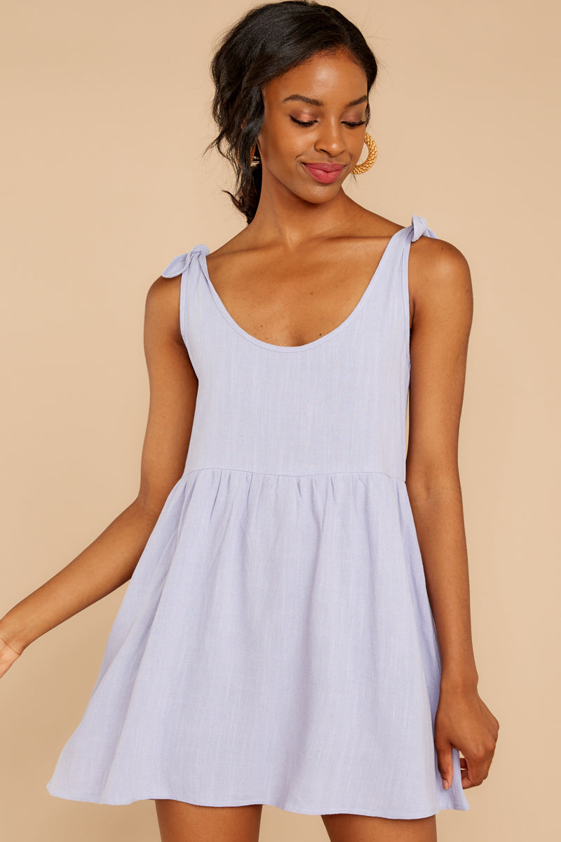 5 Castaway To Somewhere Pastel Purple Dress at reddressboutique.com