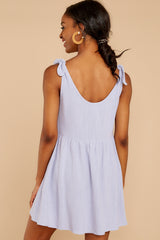 7 Castaway To Somewhere Pastel Purple Dress at reddressboutique.com