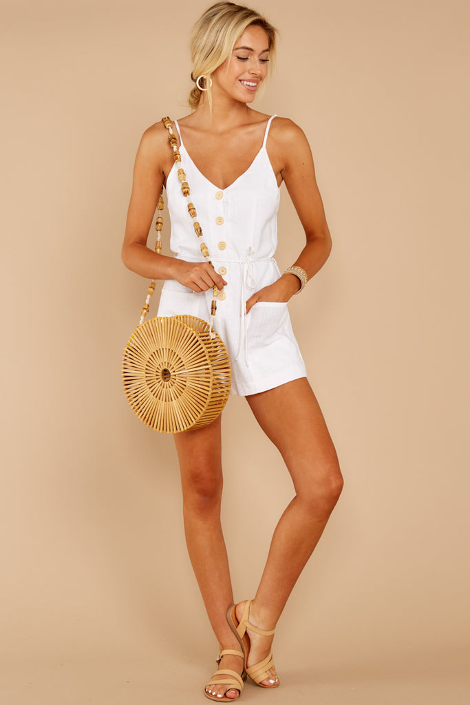 1 Worth Your While White Romper at reddress.com