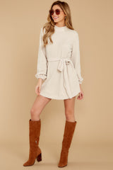 2 Found The One Ivory Chenille Sweater Dress at reddressboutique.com