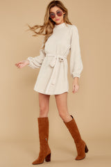 3 Found The One Ivory Chenille Sweater Dress at reddressboutique.com