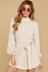 6 Found The One Ivory Chenille Sweater Dress at reddressboutique.com