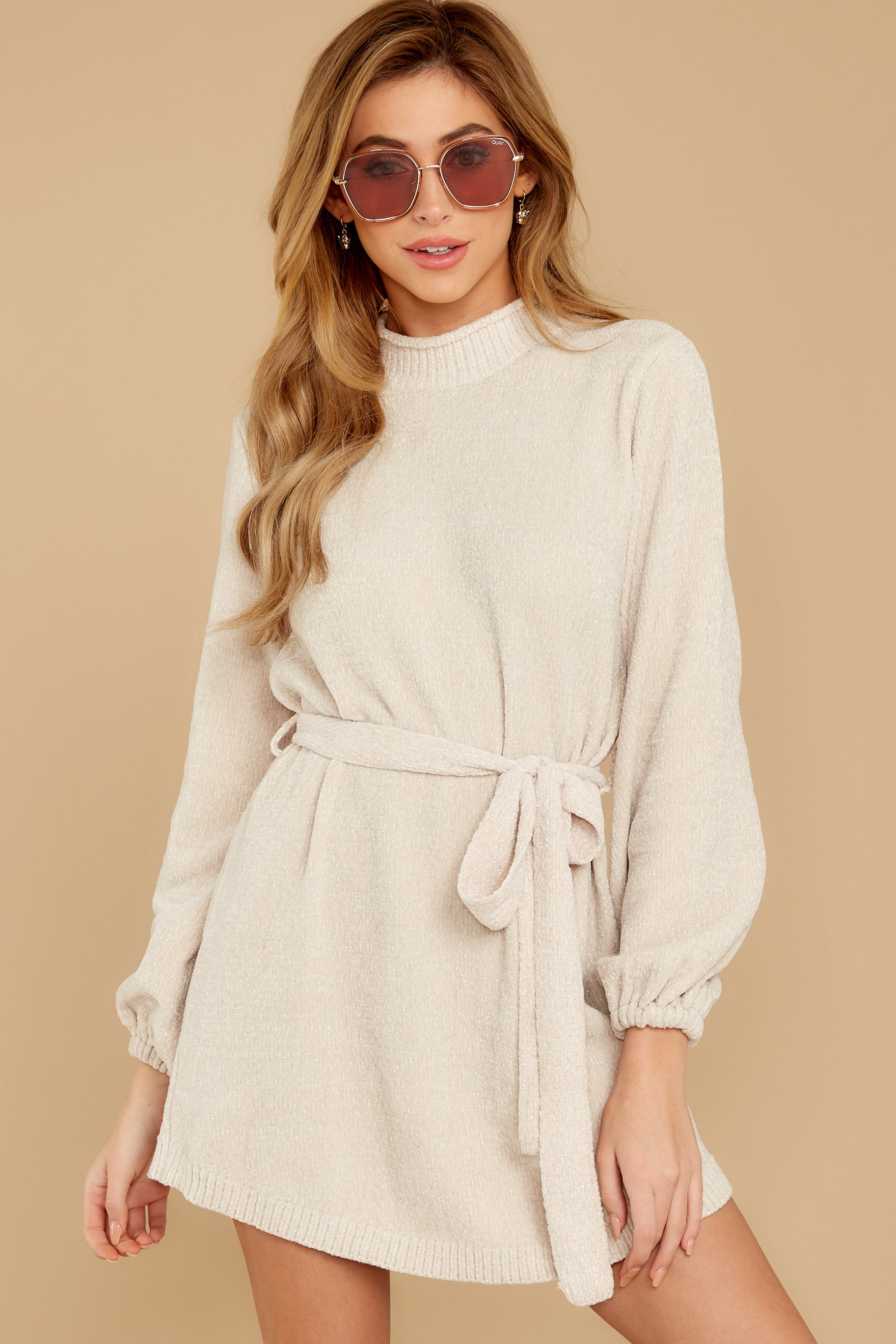 8 Found The One Ivory Chenille Sweater Dress at reddressboutique.com