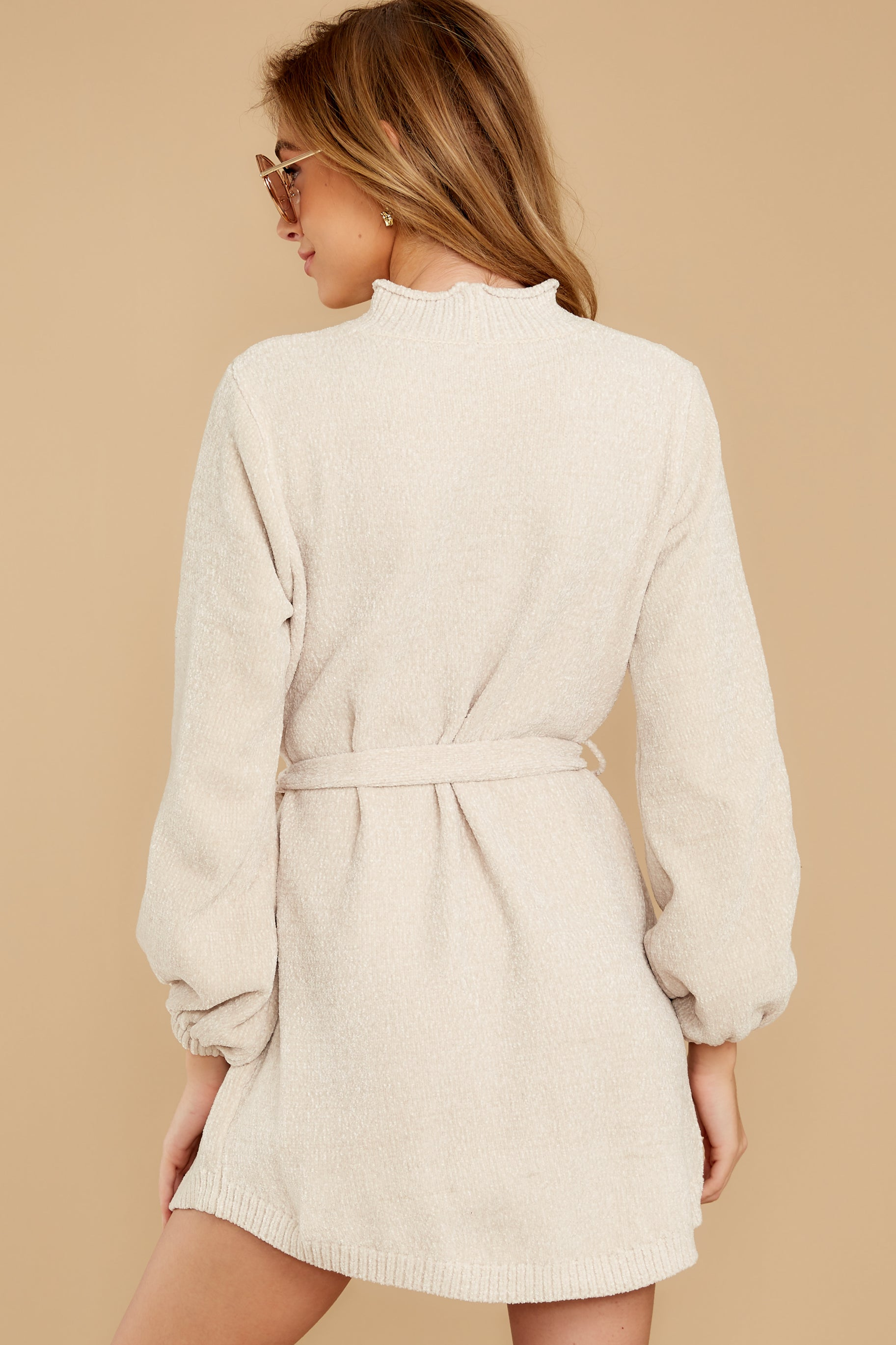 9 Found The One Ivory Chenille Sweater Dress at reddressboutique.com