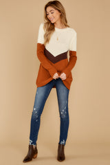 2 Remember Tomorrow Ivory Multi Sweater at reddressboutique.com