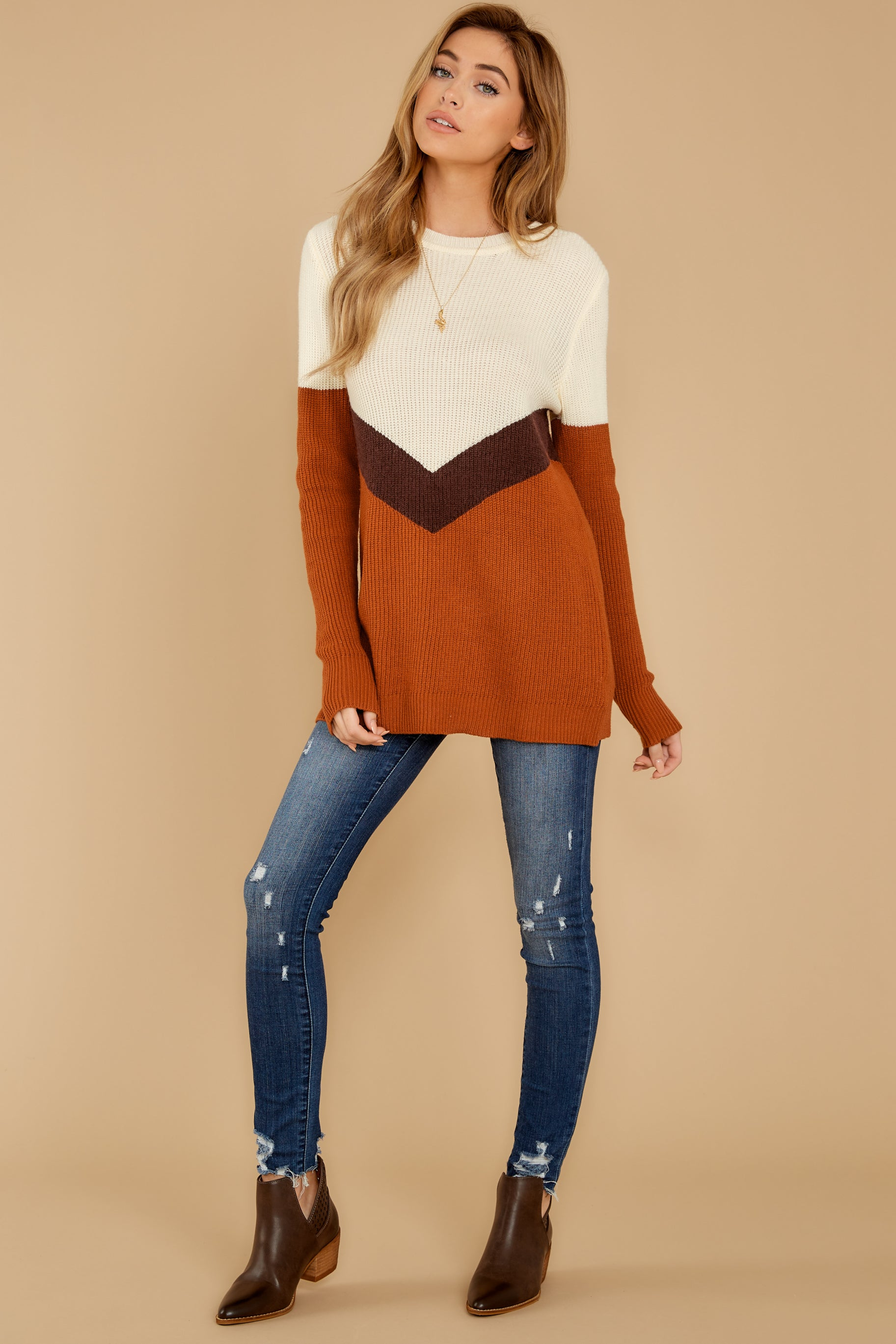 3 Remember Tomorrow Ivory Multi Sweater at reddressboutique.com