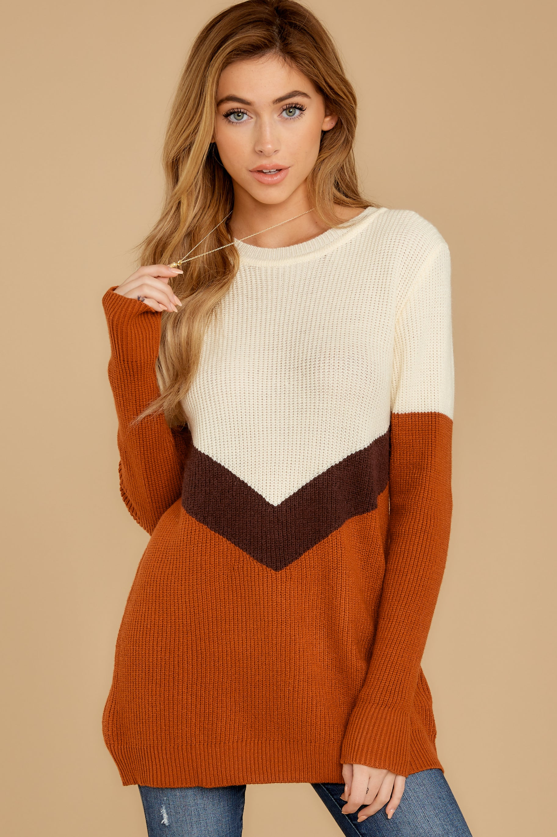 5 Remember Tomorrow Ivory Multi Sweater at reddressboutique.com