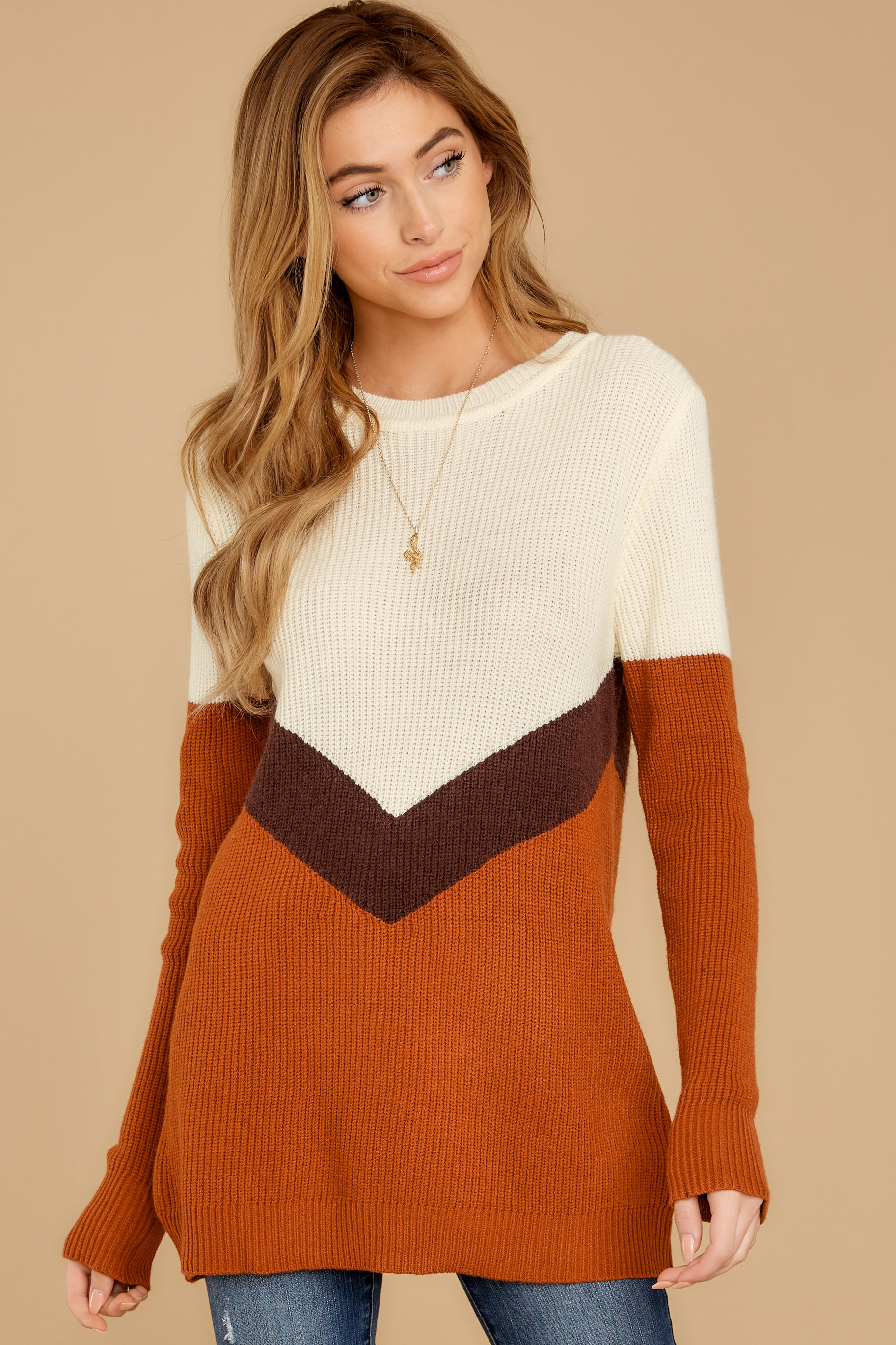 6 Remember Tomorrow Ivory Multi Sweater at reddressboutique.com