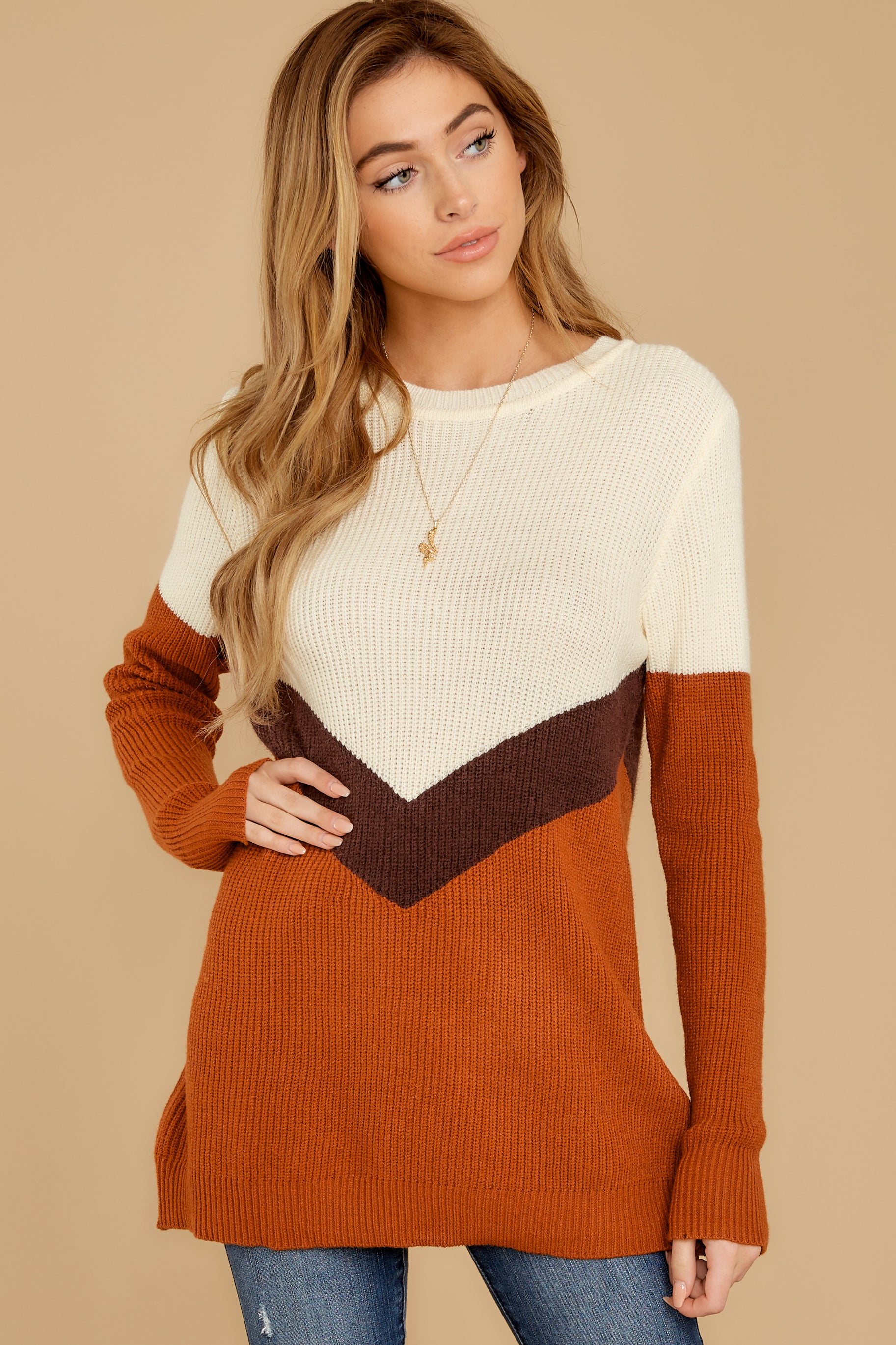 8 Remember Tomorrow Ivory Multi Sweater at reddressboutique.com