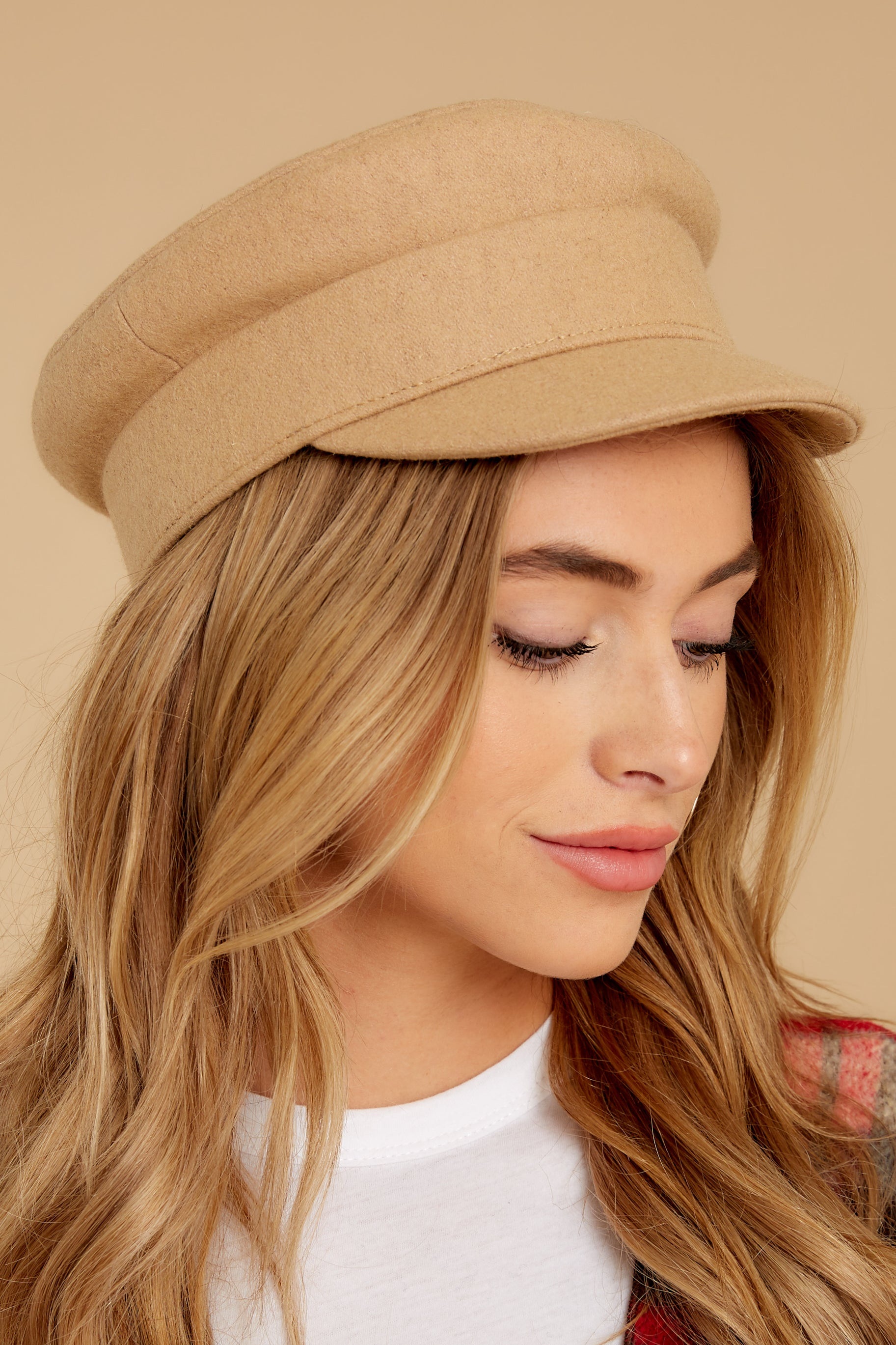 1 Time To Travel Beige Hat at reddressboutique.com