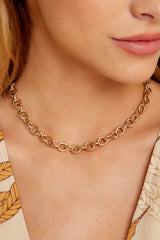 1 Gold Rush Gold Chain Necklace at reddressboutique.com