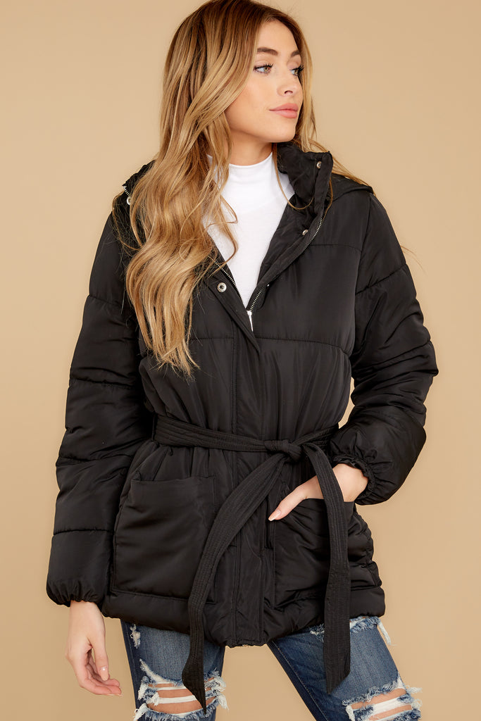 5 Polar Plunge Navy Puffer Coat at reddressboutique.com