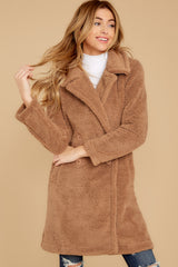 6 The Toffee Cozy Sherpa Coat at reddressboutique.com