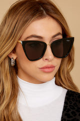 1 Reina Black Smoke Sunglasses at reddress.com