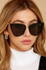 2 Reina Black Smoke Sunglasses at reddress.com