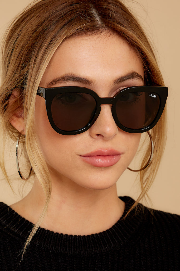 1 Hardwire Black Sunglasses at reddressboutique.com