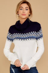 1 I Ski You Ski Navy Sweater at reddressboutique.com