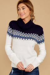 2 I Ski You Ski Navy Sweater at reddressboutique.com
