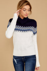 3 I Ski You Ski Navy Sweater at reddressboutique.com
