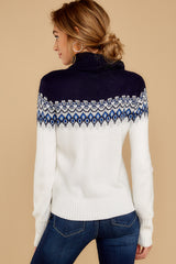 4 I Ski You Ski Navy Sweater at reddressboutique.com