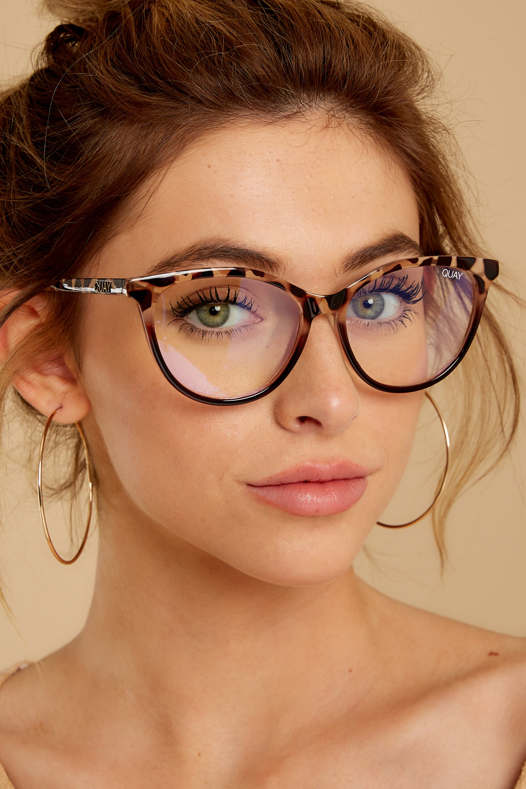 2 All Nighter Tortoise Clear Blue Light Glasses at reddressboutique.com